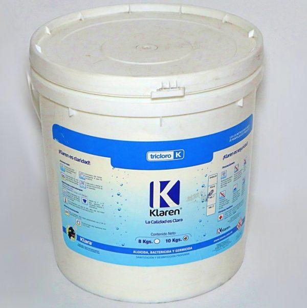 Klaren Tricloro Desinfectante - Cloro Para Alberas 10Kg